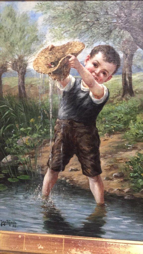 John Theel, British, Whimsical Oil On Canvas, - 2
