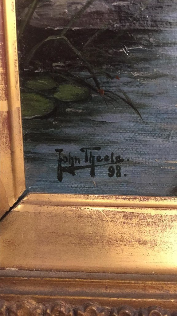 John Theel, British, Whimsical Oil On Canvas, - 5