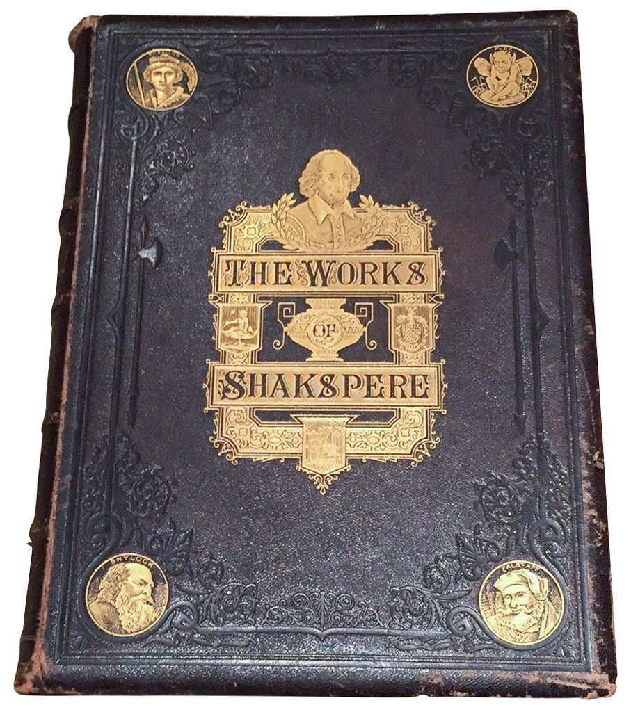 Large Pr. Works Of Shakespeare, Gold Tooled,