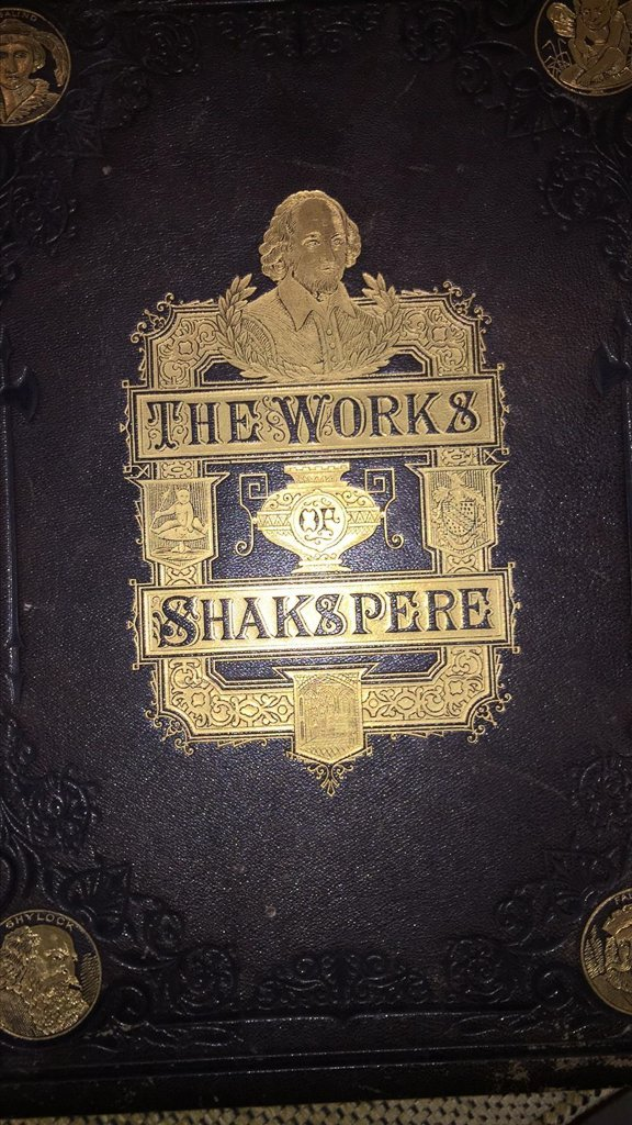 Large Pr. Works Of Shakespeare, Gold Tooled, - 2