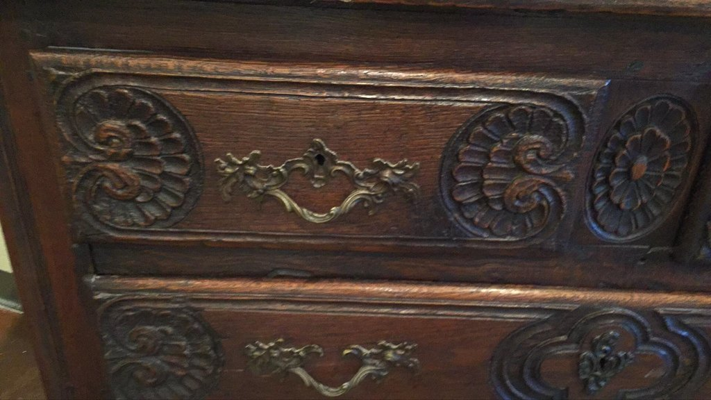 18th/19h C. French Carved Oak Commode - 2