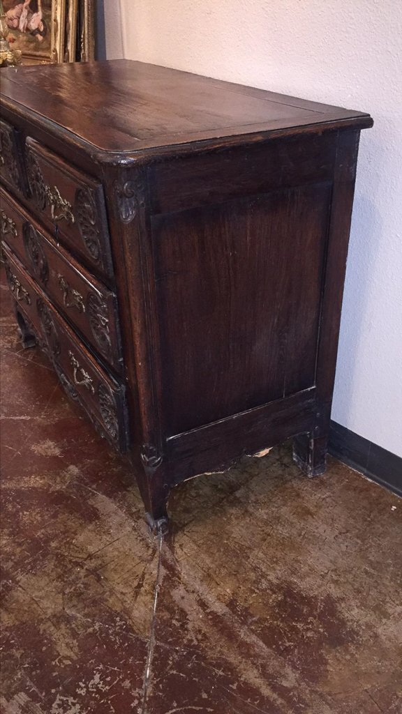 18th/19h C. French Carved Oak Commode - 4