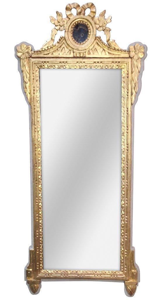 Period French Louis Xvi Parcel Gilt Mirror