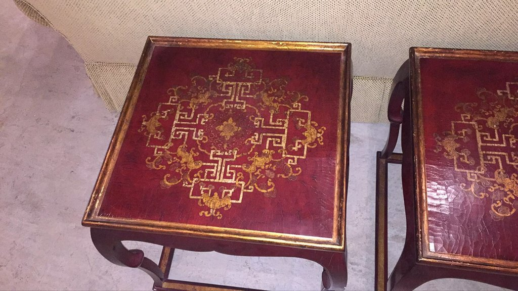Pair Of French Chinoiserie Lacquer Side Tables - 2