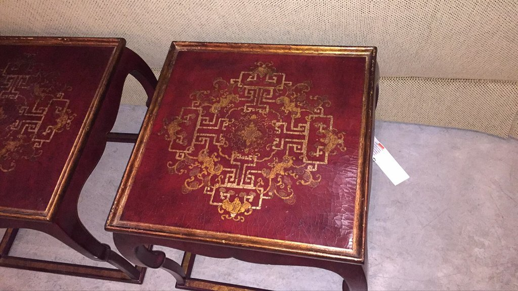 Pair Of French Chinoiserie Lacquer Side Tables - 3
