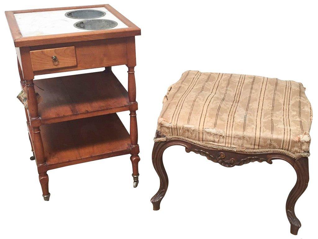 French Walnut  Baker's Cabinet