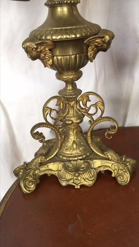 Pr French 7-light Altar Candelabra, C1890 - 2
