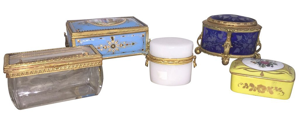 Collection Of 5 Antique French Boxes