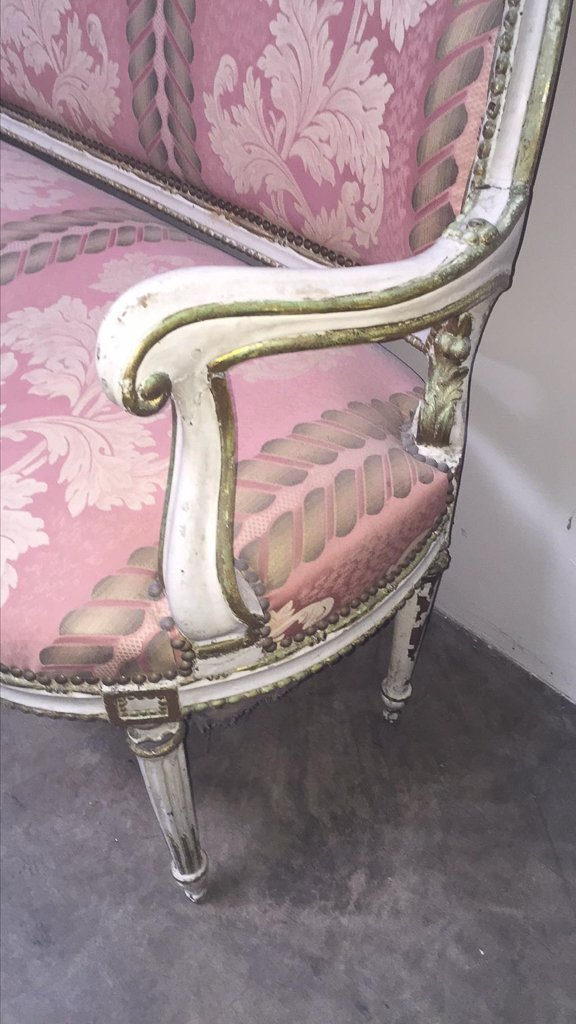 19th Century French Louis Xv I Sofa, Old - 2