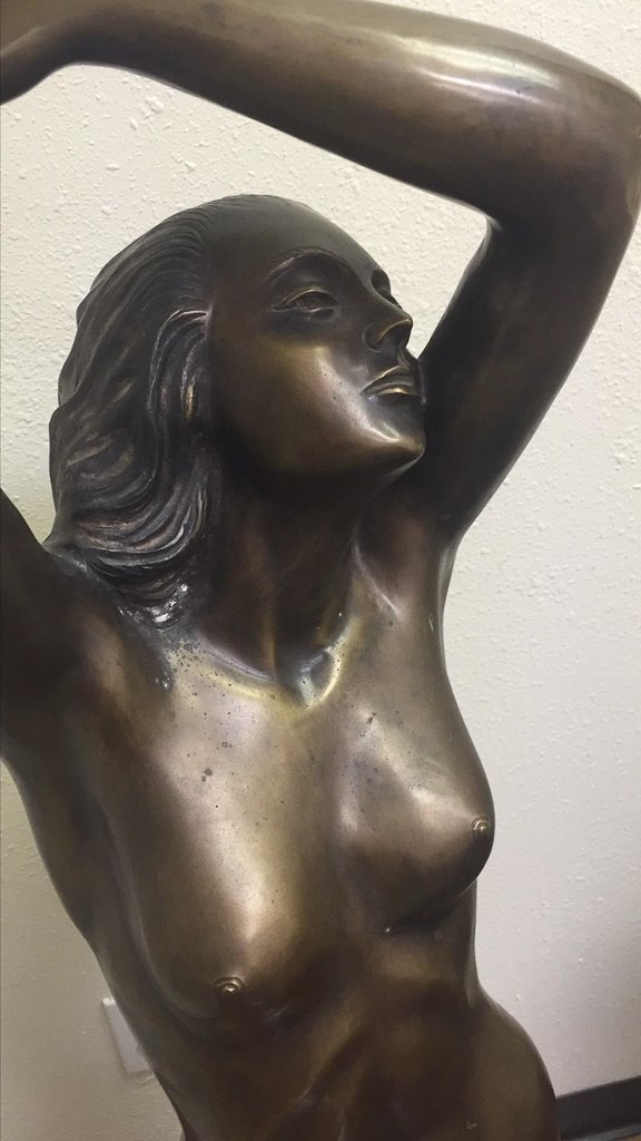 Large Bronze Sculpture Of Nude Lady, 53 Inches - 2