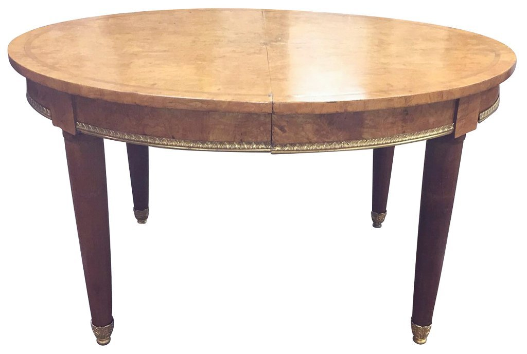 Fine French Oval Deco Dining Table, Very Fine