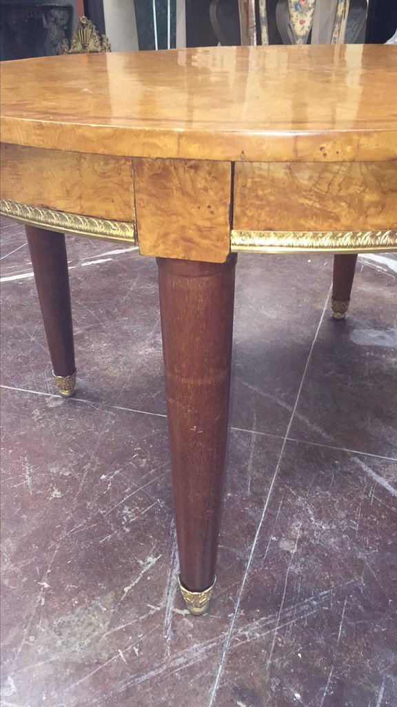 Fine French Oval Deco Dining Table, Very Fine - 4