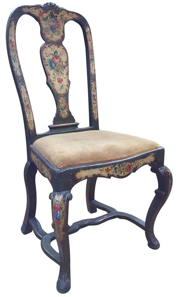 Italian Venetian Style Painted Side Chair