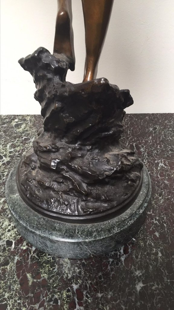 "Art Deco Bronze Statue, Dancing Lady, ""diane"" - 4"