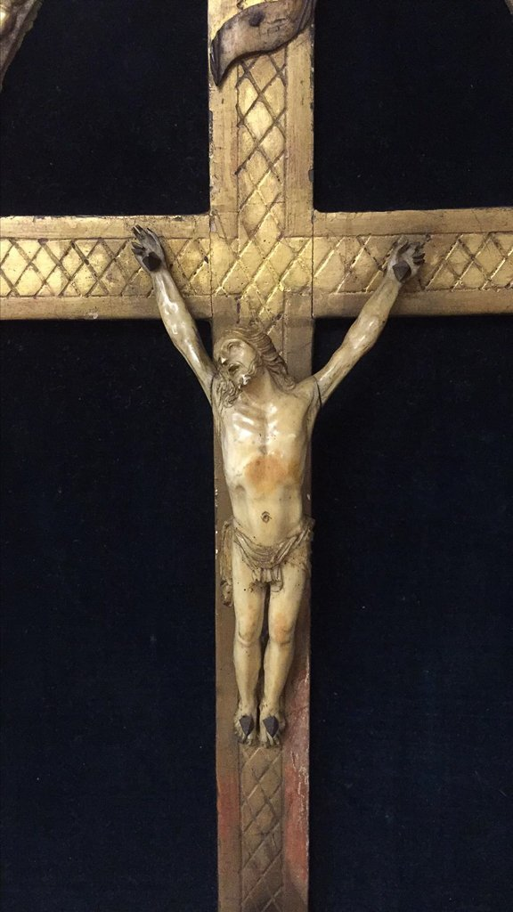 18th Century French Framed Crucifix, With - 2