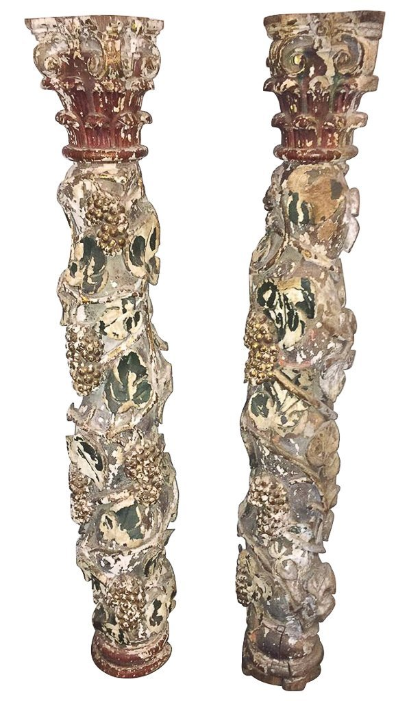 Pr. Portuguese Polychrome Columns,