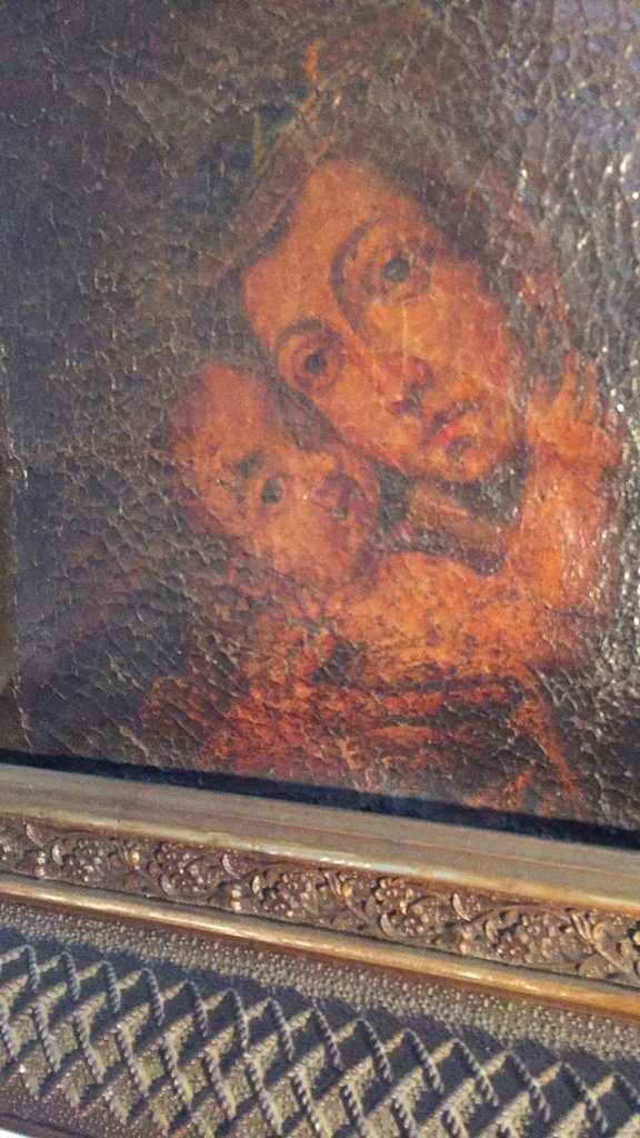 18th C. French Oil, Madonna And Child, In Gilt - 2
