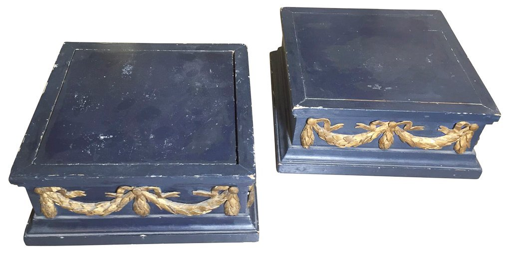 Pair Of Antique French Lacquered Stands, With