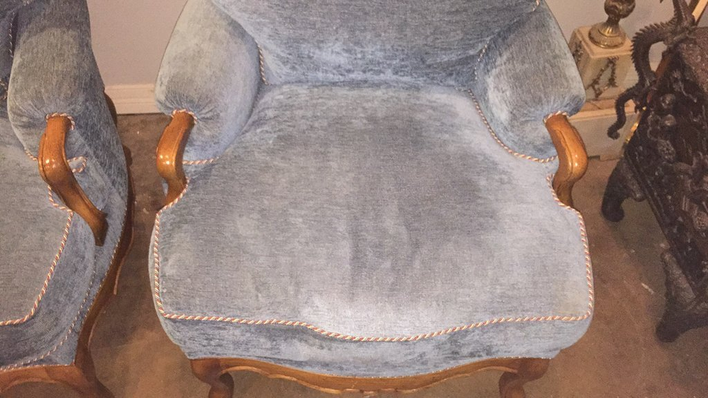 Pair Of Large Scale French Style Armchairs - 3
