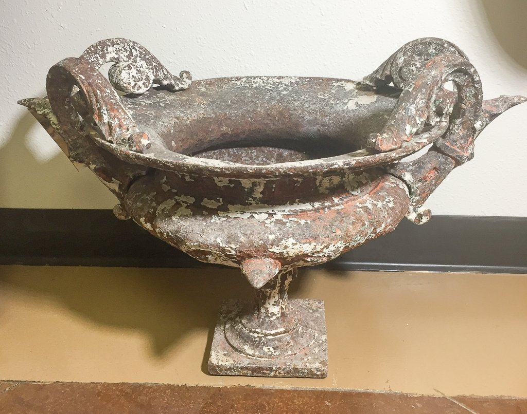 Antique French Iron Planter