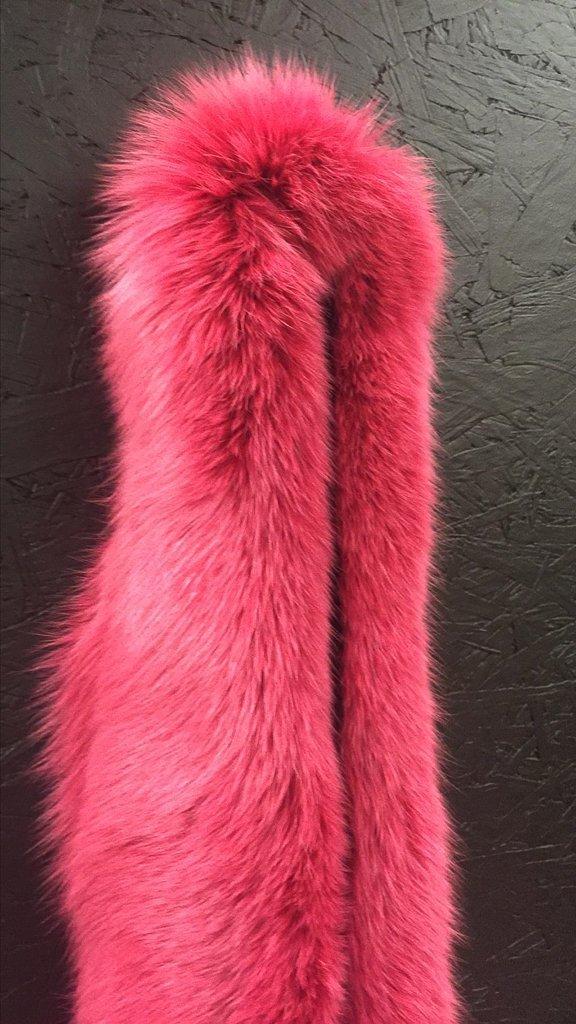 Full Length Pink Dyed Fox Boa - 2