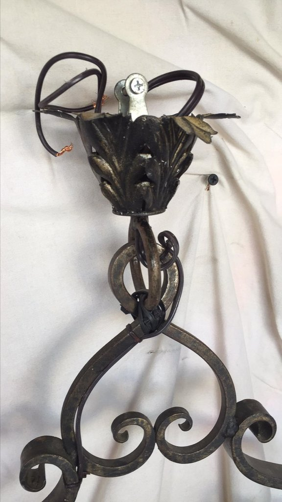 Unusual French Wrought Iron Single Light - 3