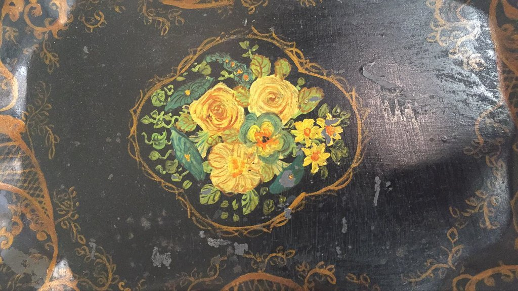 A Group Of Three Black Tole Trays - 3