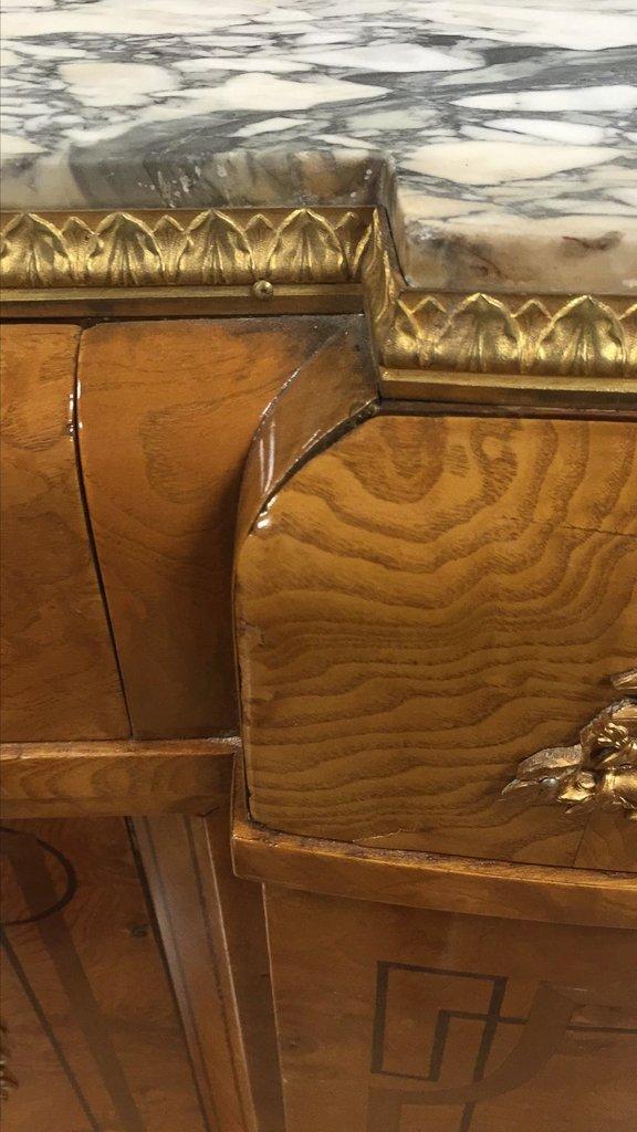 Find French Exotic Burl Walnut Deco Server - 5