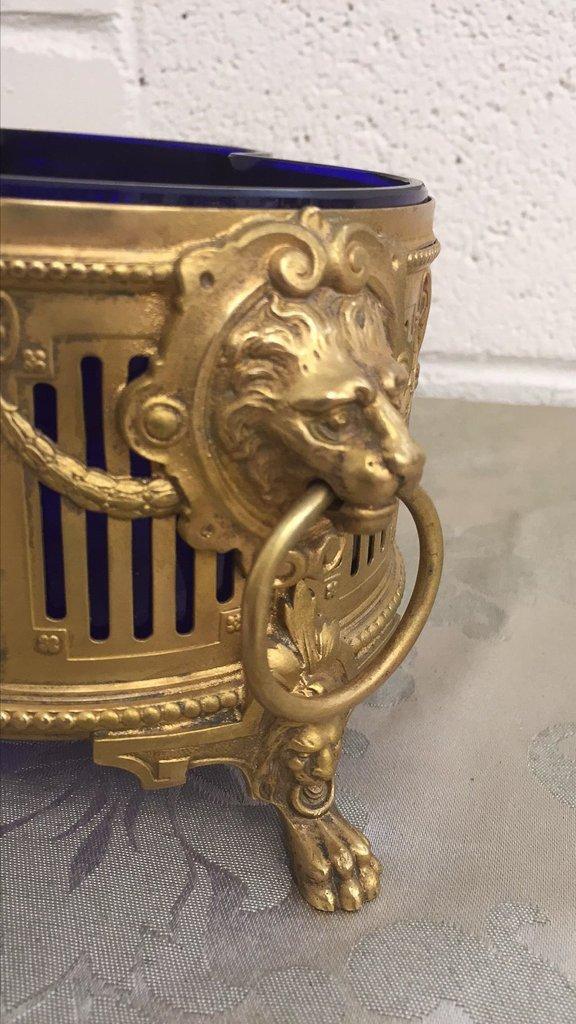Empire Gilt Bronze Centerpiece, With Cobalt - 3