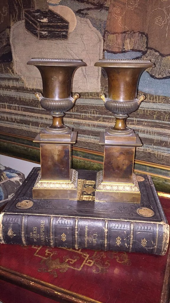 Pair Of 19th C. French Bronze Urns - 5