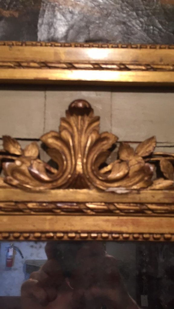 18th C. French Trumeau Mirror With - 6