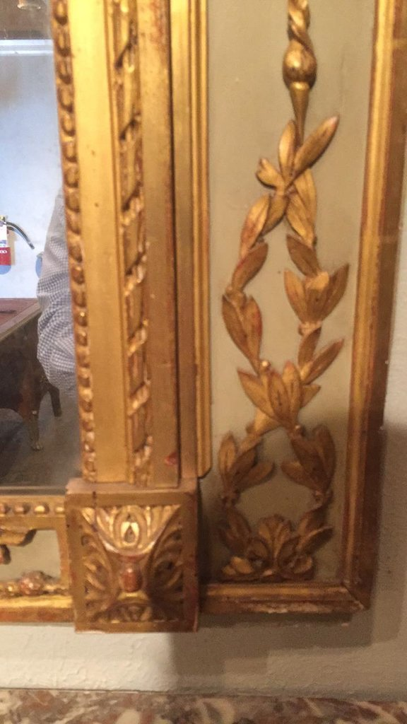 18th C. French Trumeau Mirror With - 7