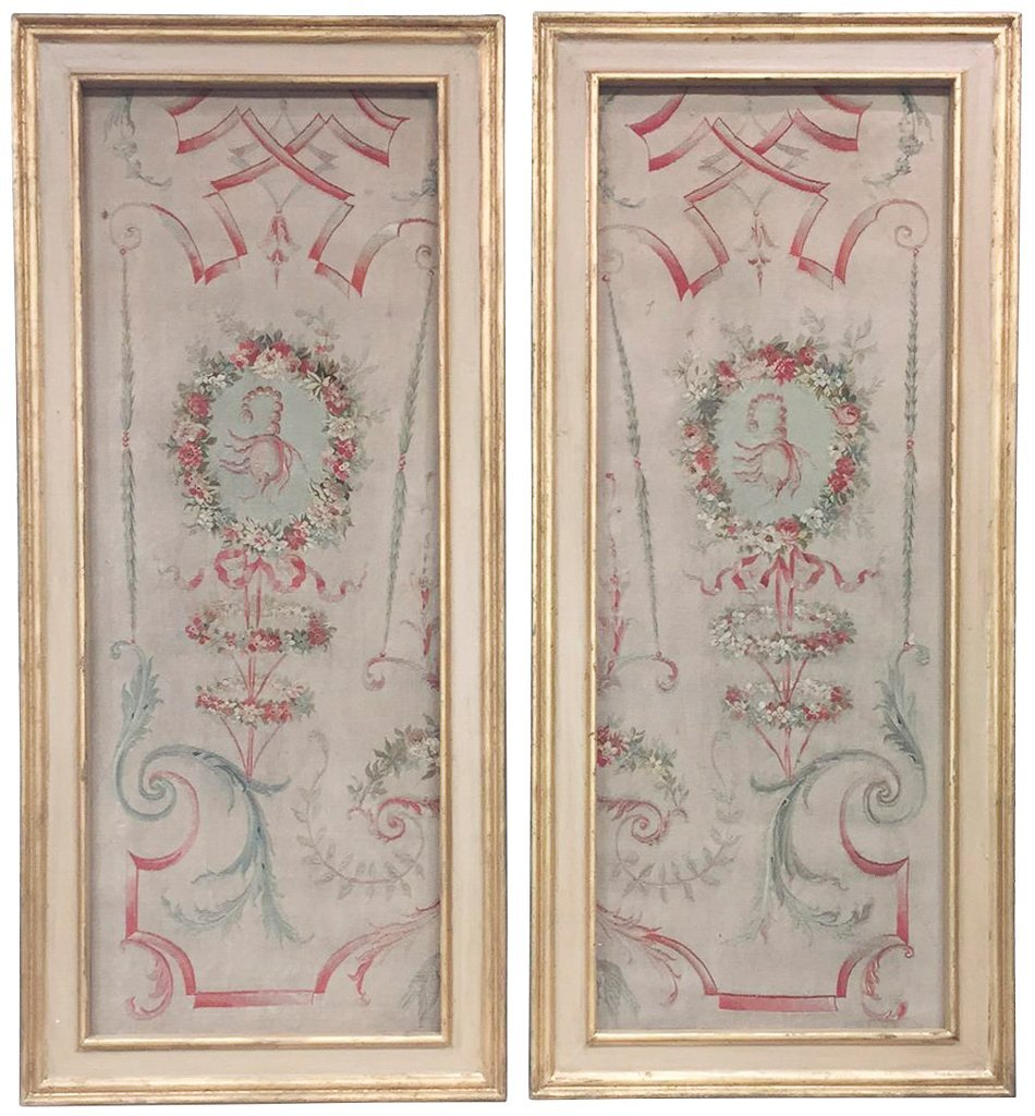 Nice Pair Of Antique French Aubusson Panels
