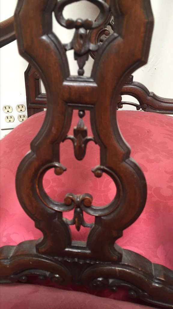 Fine Set Of Six Continental Style Dining Chairs - 5