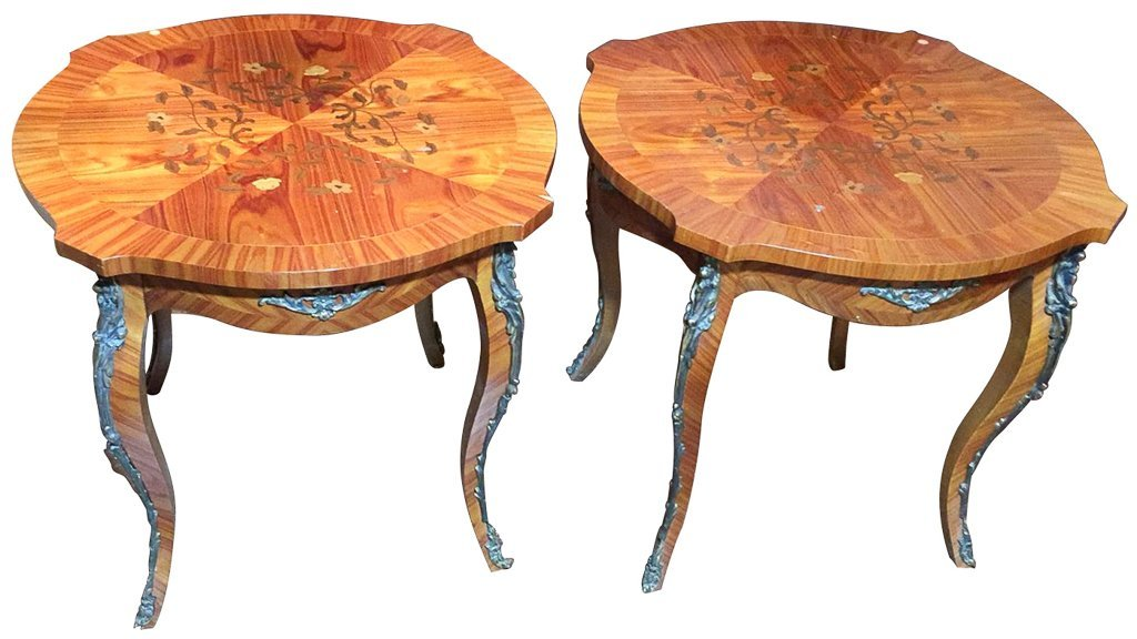 Pair  Of French Kingwood, Marquetry Tables