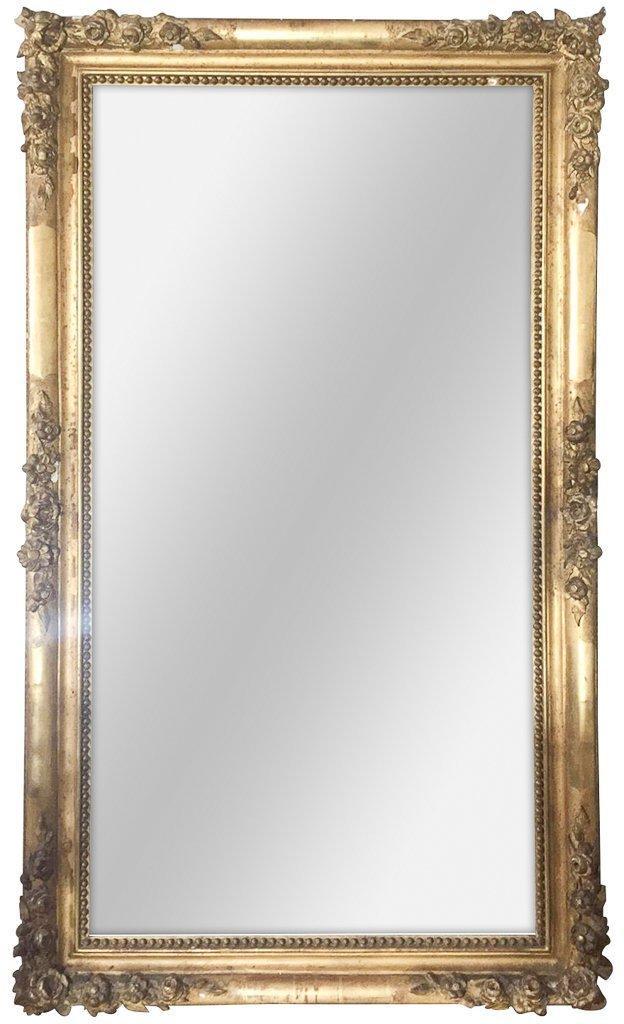19th Century French Napoleon Iii Mirror, Great
