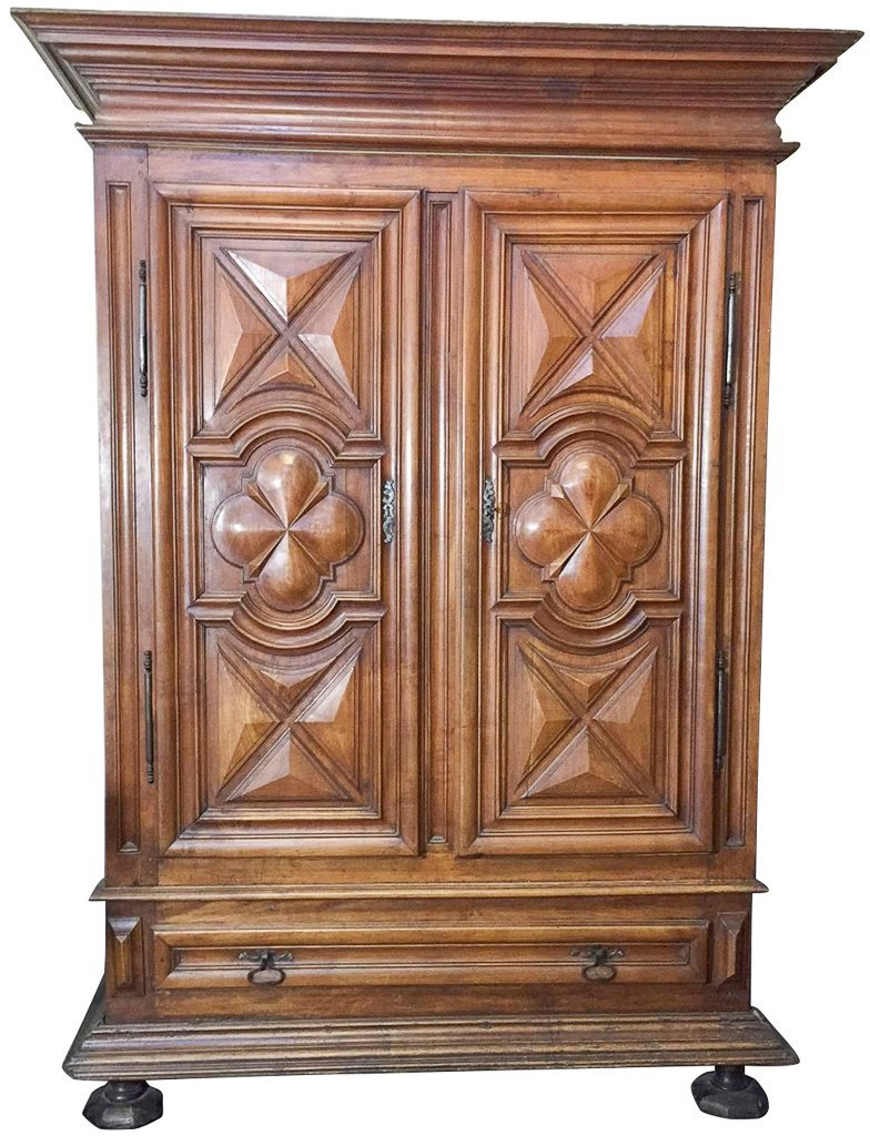 18th Century Louis Xiii Cherry Armoire, With