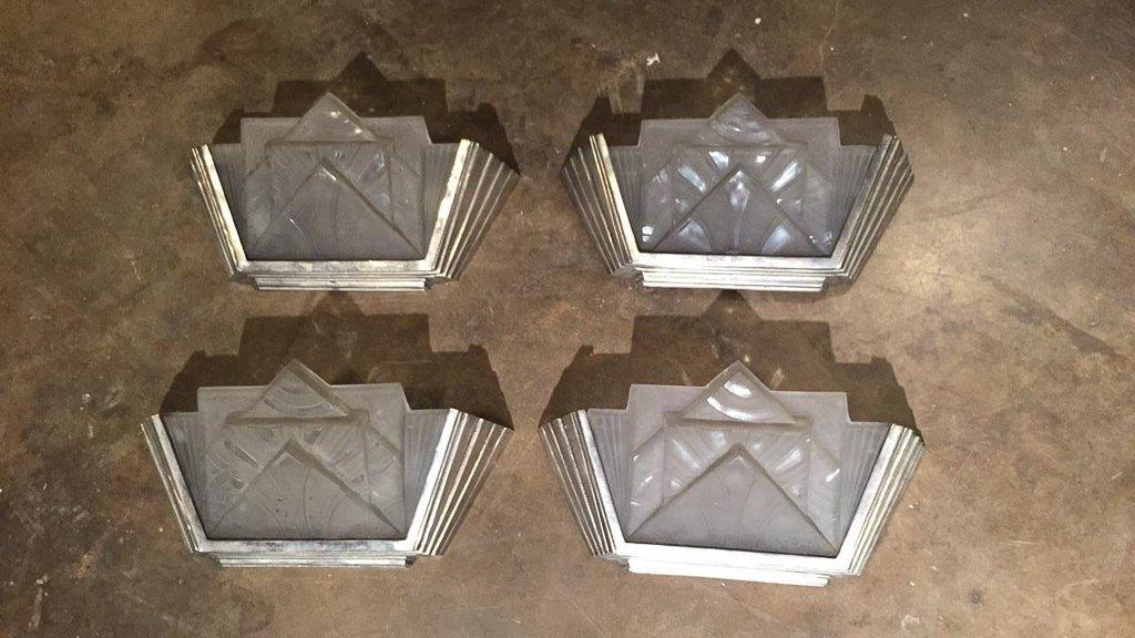 Set Of 4 French Art Deco Sconces - 7