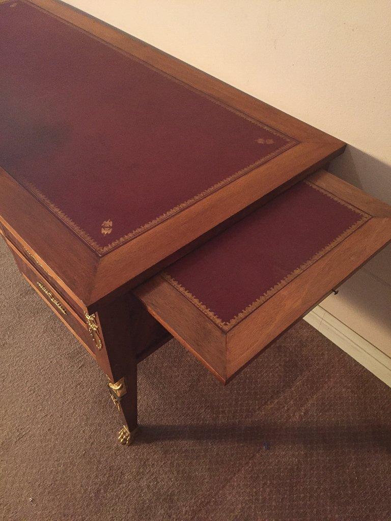 French Empire Mahogany Desk - 2