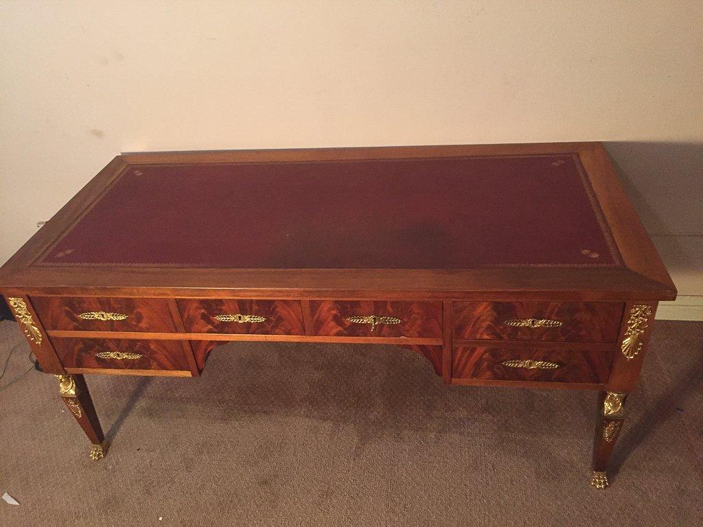 French Empire Mahogany Desk - 5