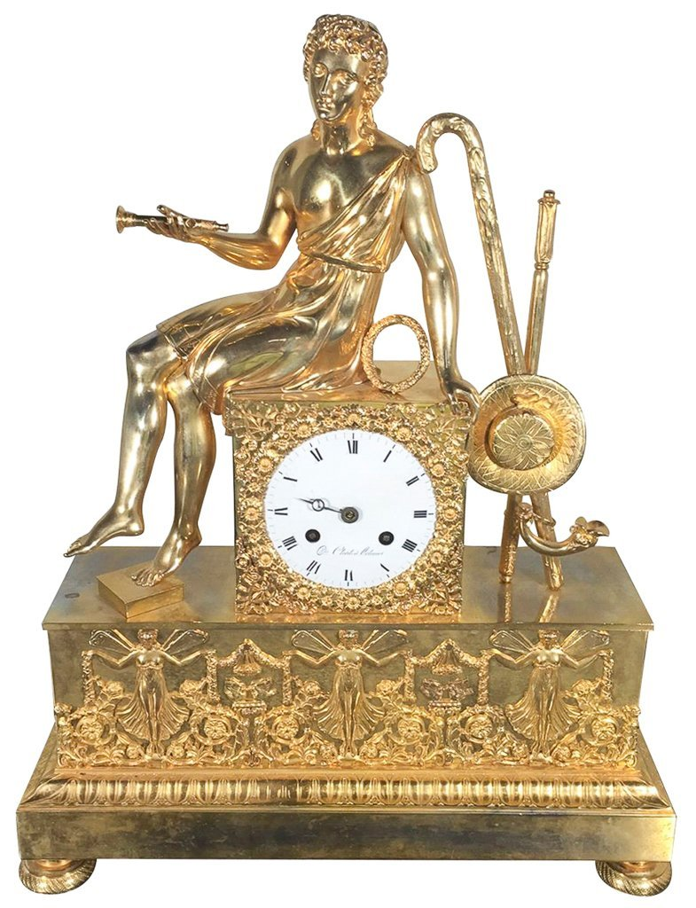 Superb French Directoire Mantle Clock,
