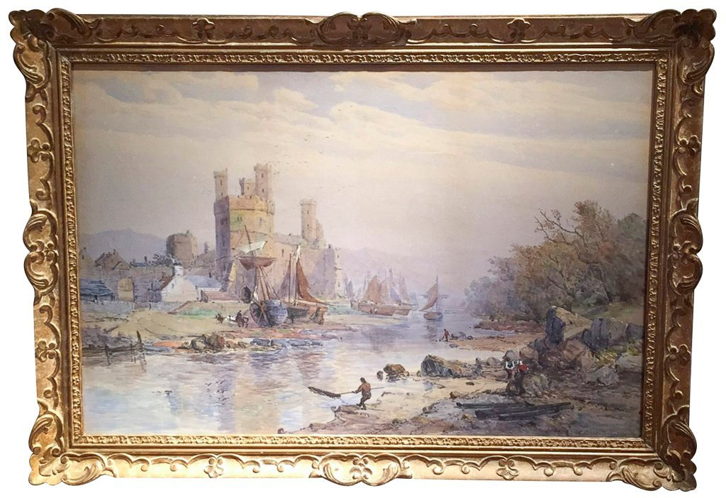 Important Charles Brooke Branwhite Watercolor,