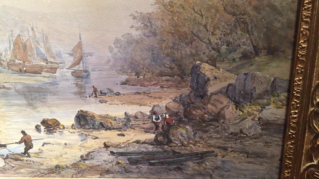Important Charles Brooke Branwhite Watercolor, - 5