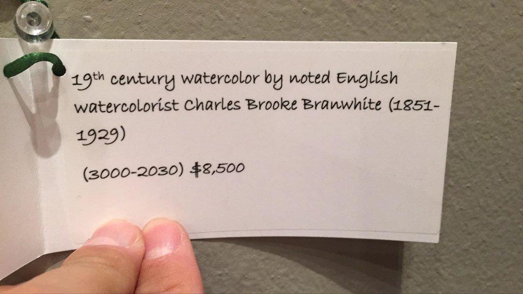 Important Charles Brooke Branwhite Watercolor, - 6