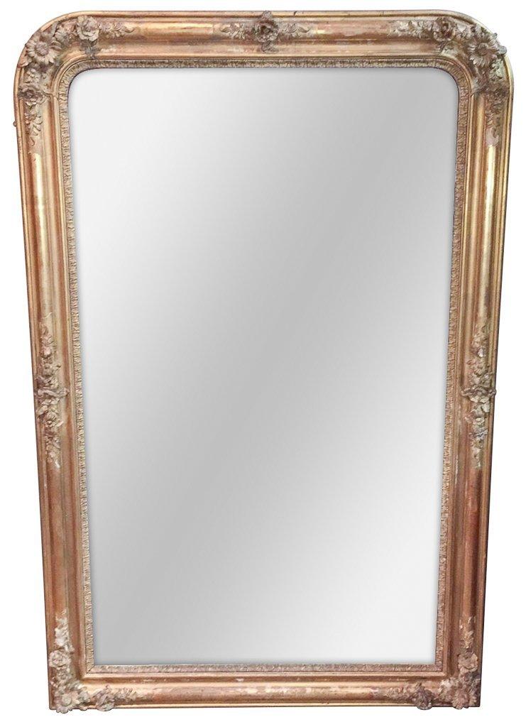 19th C. French Louis Philippe Gilt Mirror