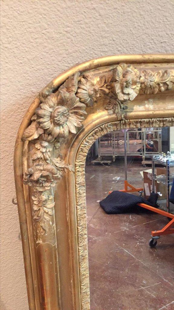 19th C. French Louis Philippe Gilt Mirror - 2