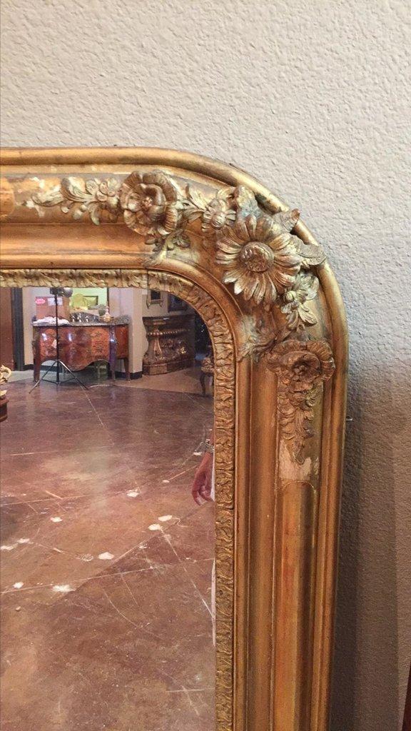 19th C. French Louis Philippe Gilt Mirror - 4