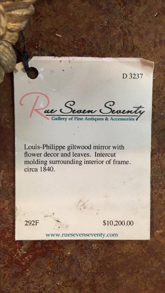 19th C. French Louis Philippe Gilt Mirror - 5
