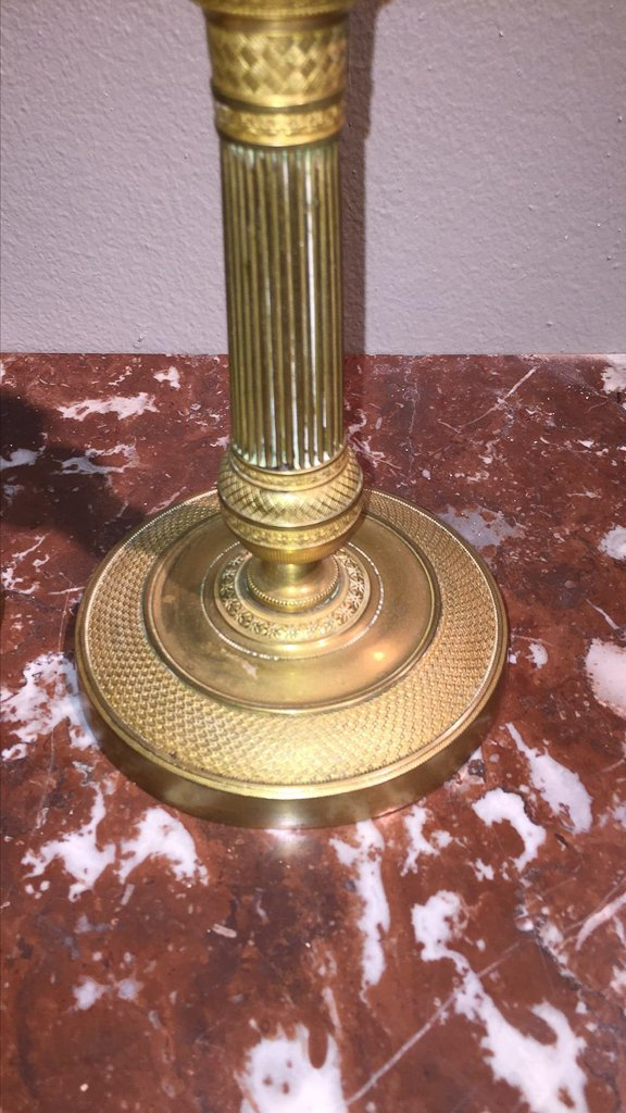 Pair Of 19th C. English Brass Candlesticks - 3