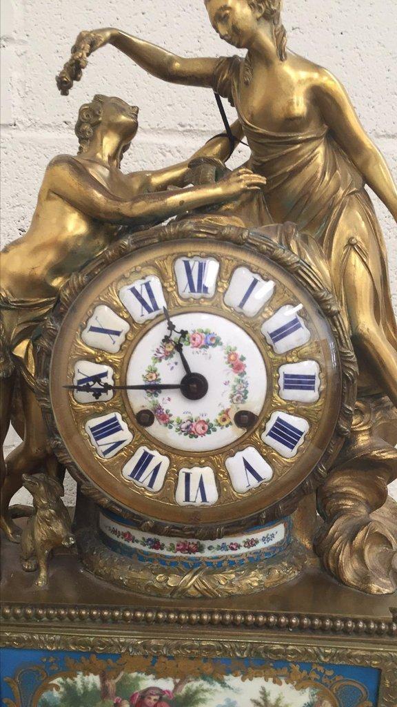 19th Century French Napoleon Iii Bronze Clock, - 3